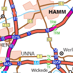 Geschwindigkeitsbegrenzung Autobahn Deutschland Karte.Karte Autobahnatlas